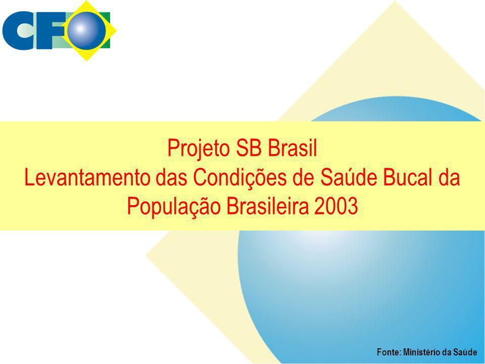 Projeto SB Brasil Levantamento das Condições de Saúde Bucal da População Brasileira 2003