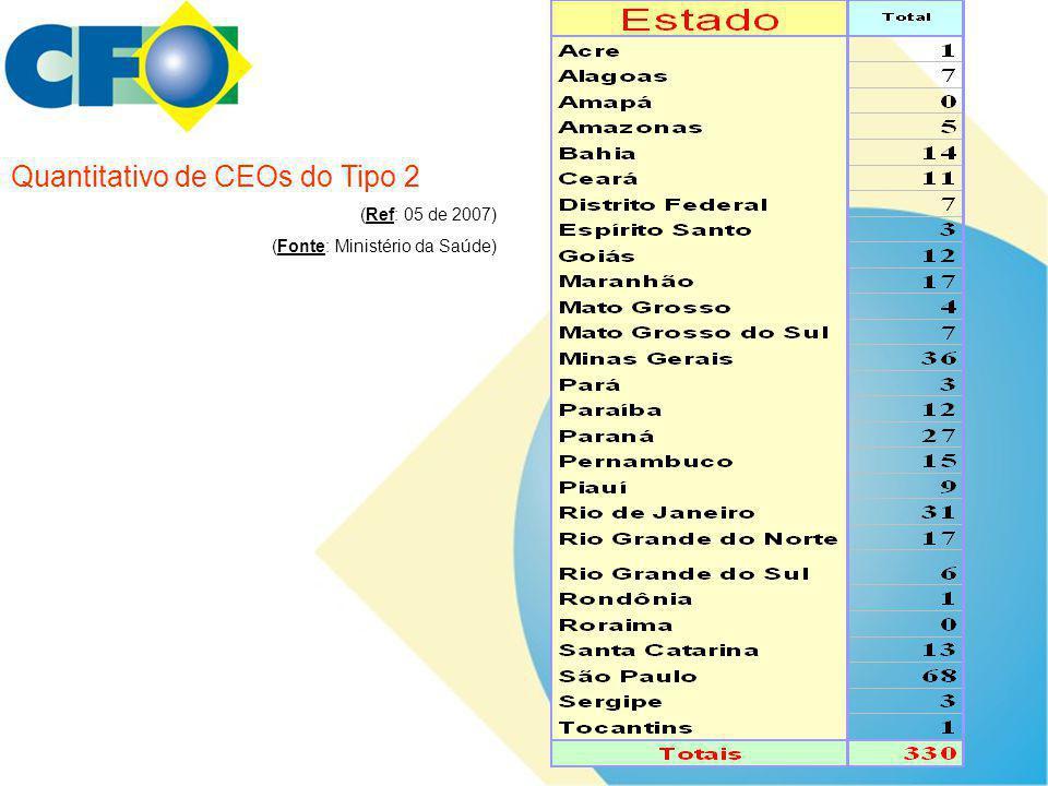 Quantitativo de CEOs do Tipo 2