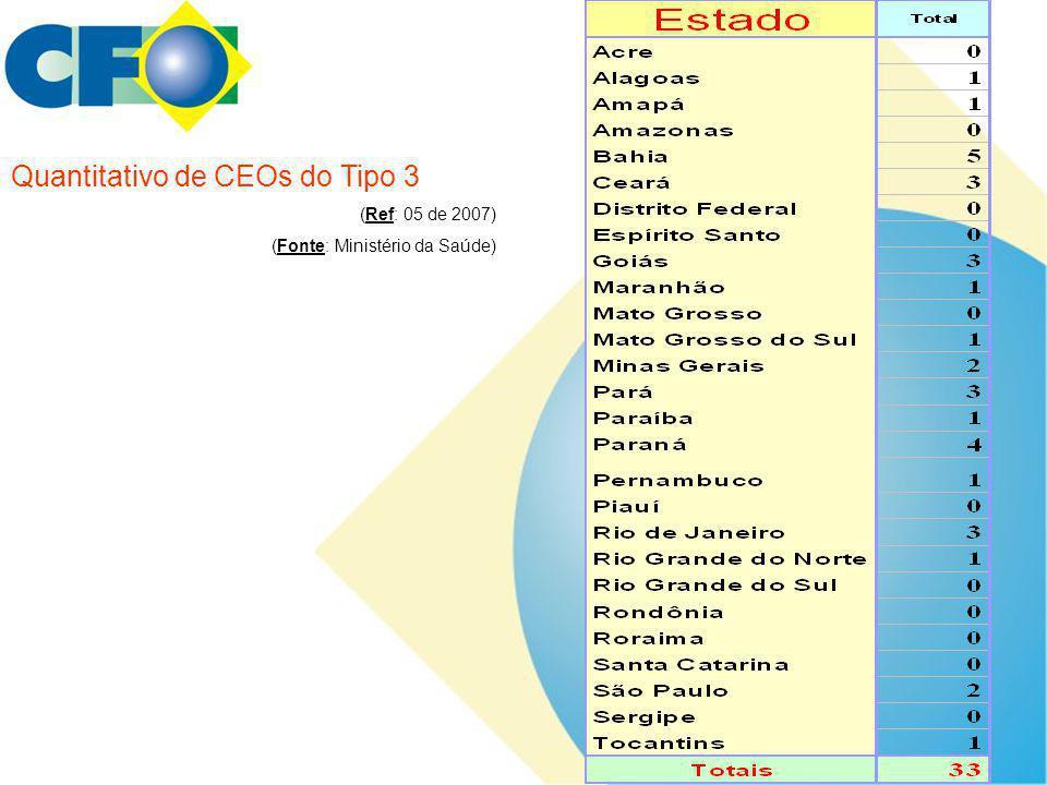 Quantitativo de CEOs do Tipo 3