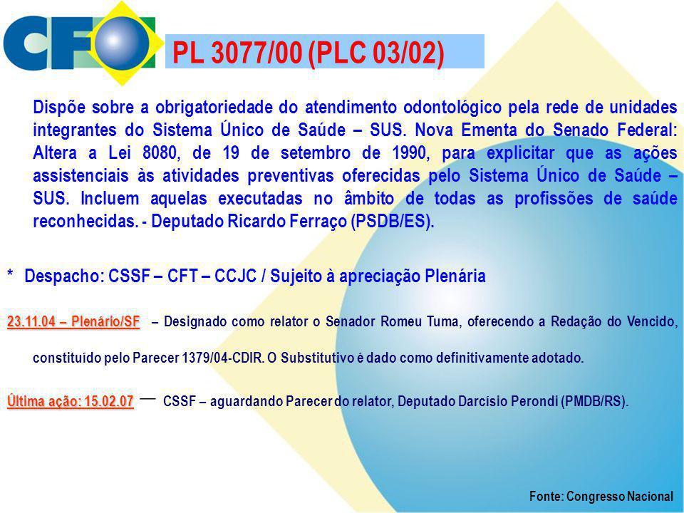 PL 3077/00 (PLC 03/02)