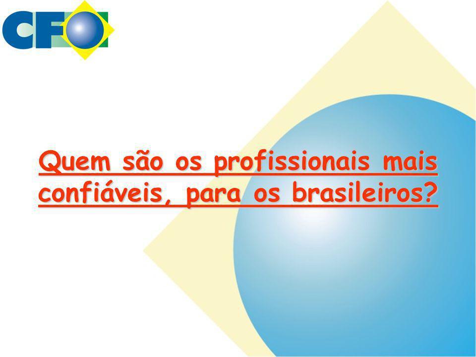 Quem são os profissionais mais confiáveis, para os brasileiros