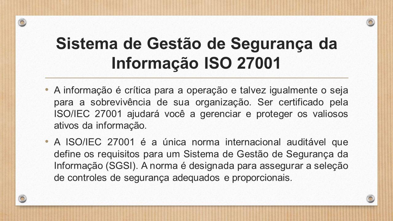 Sistema de Gestão de Segurança da Informação ISO 27001