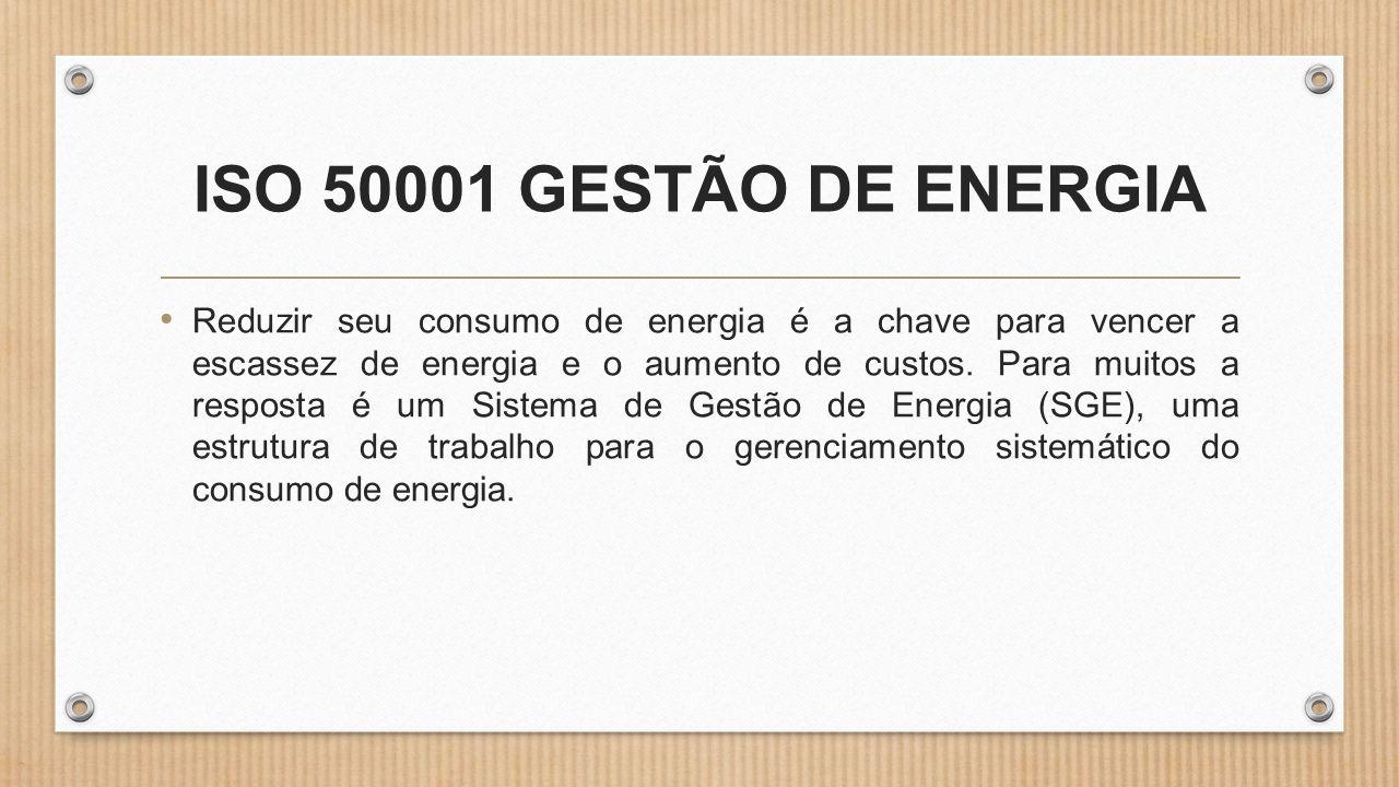 ISO 50001 GESTÃO DE ENERGIA
