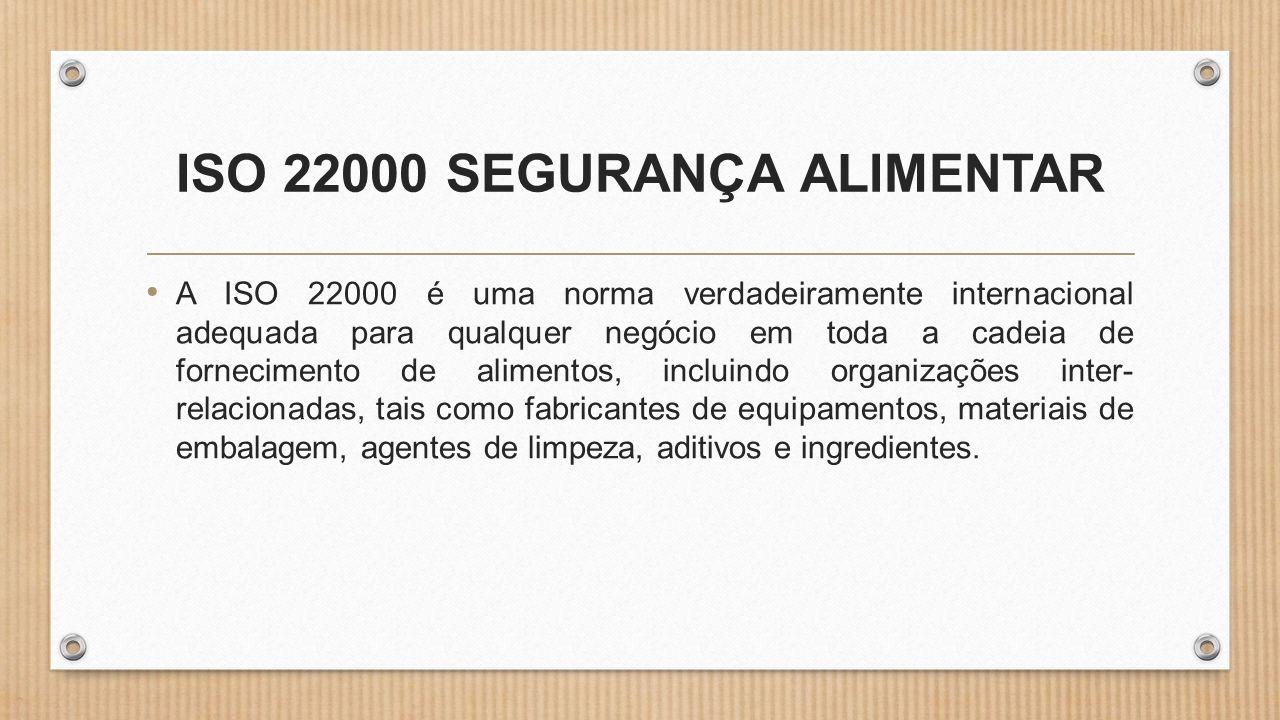 ISO 22000 SEGURANÇA ALIMENTAR