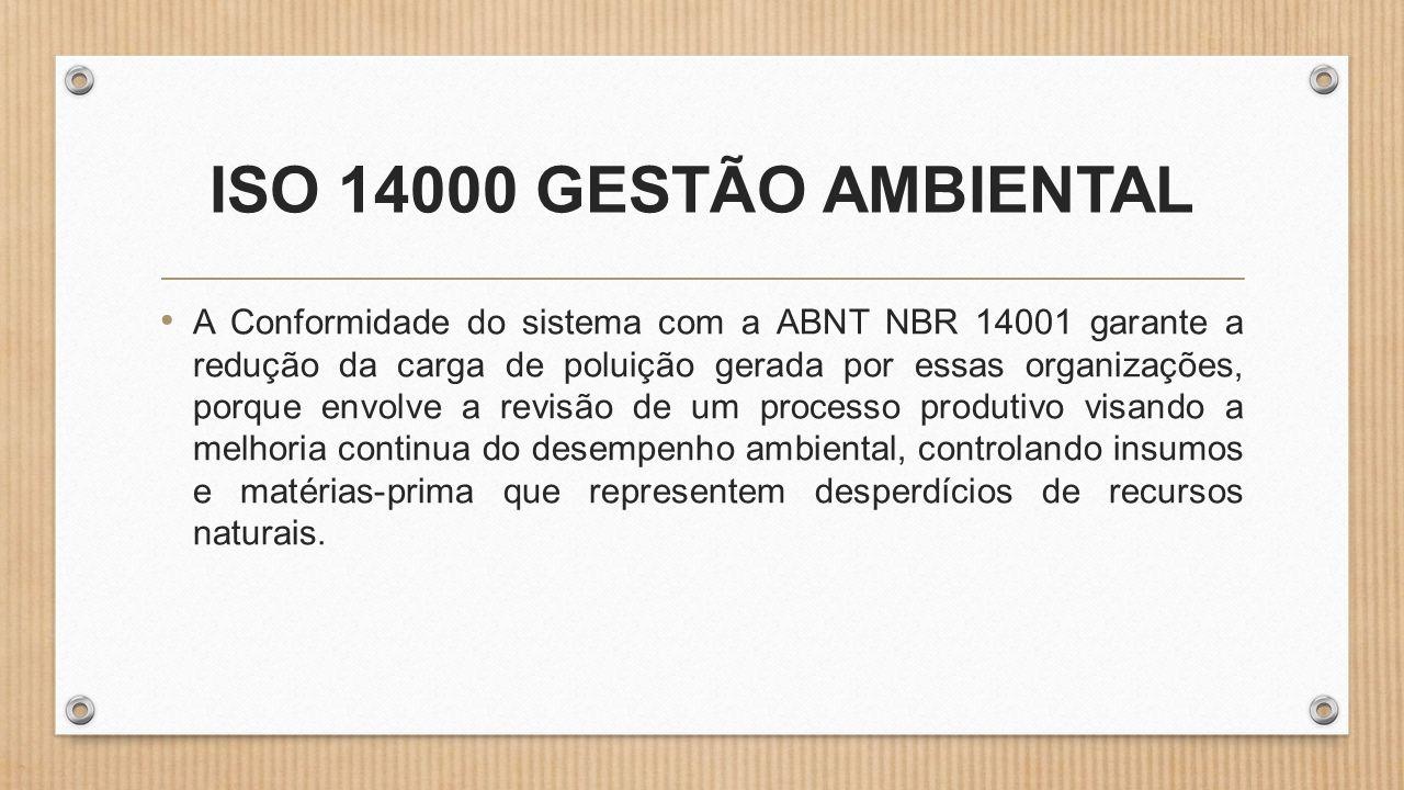 ISO 14000 GESTÃO AMBIENTAL