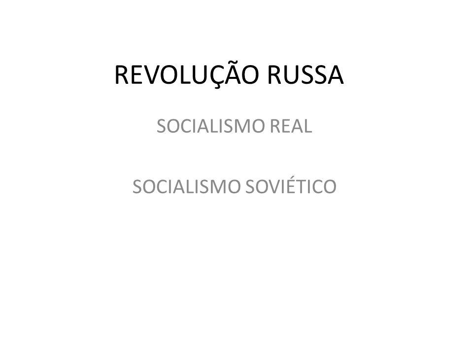 SOCIALISMO REAL SOCIALISMO SOVIÉTICO