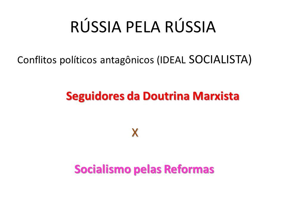 RÚSSIA PELA RÚSSIA Seguidores da Doutrina Marxista X