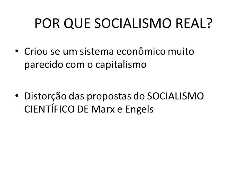 POR QUE SOCIALISMO REAL