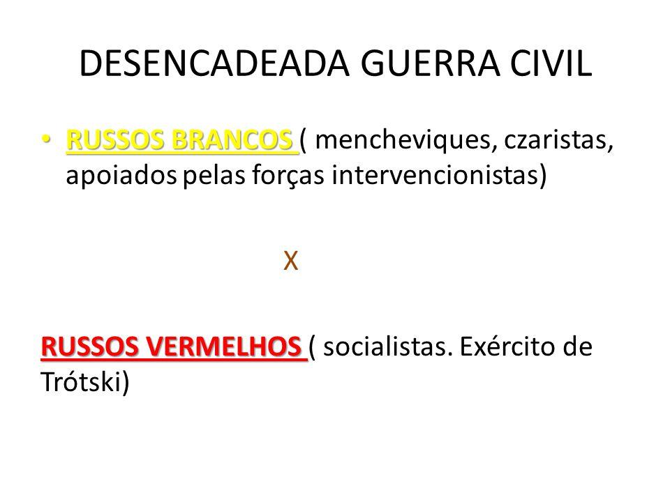 DESENCADEADA GUERRA CIVIL