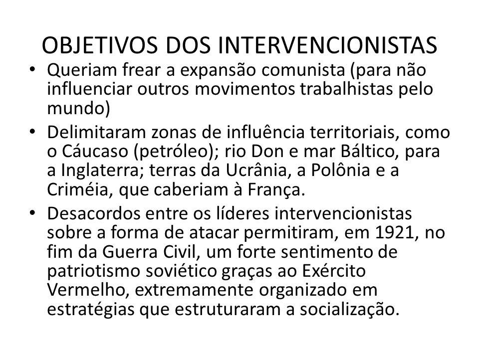 OBJETIVOS DOS INTERVENCIONISTAS