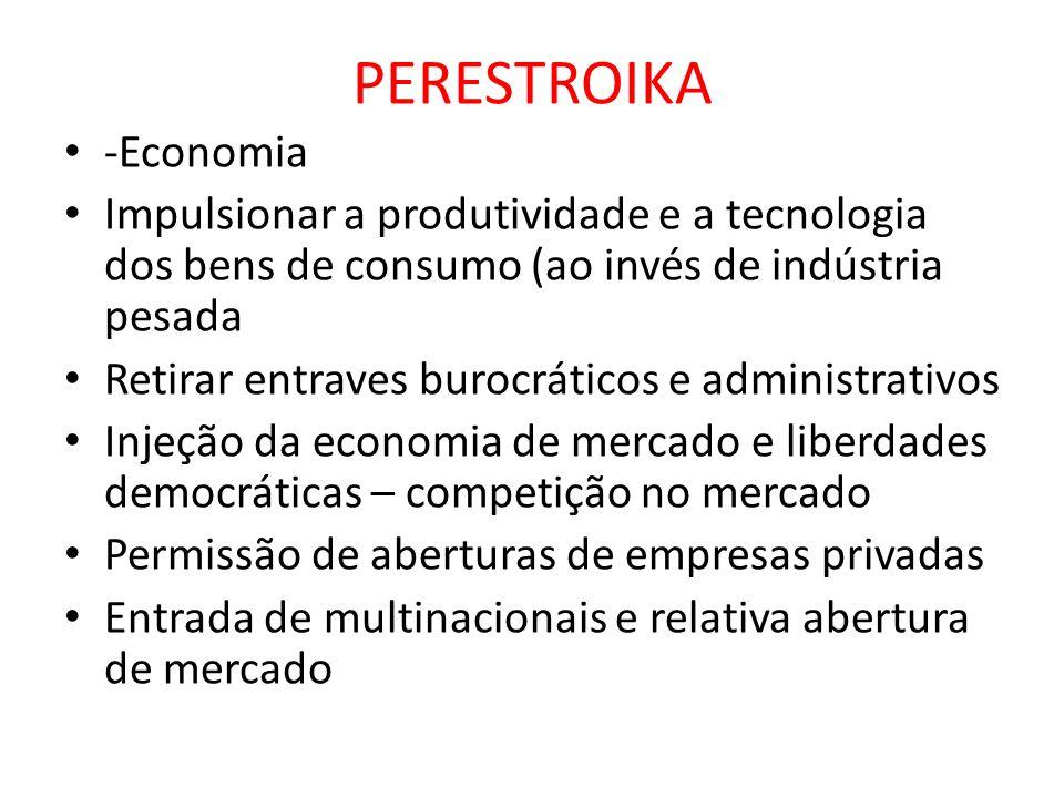 PERESTROIKA -Economia