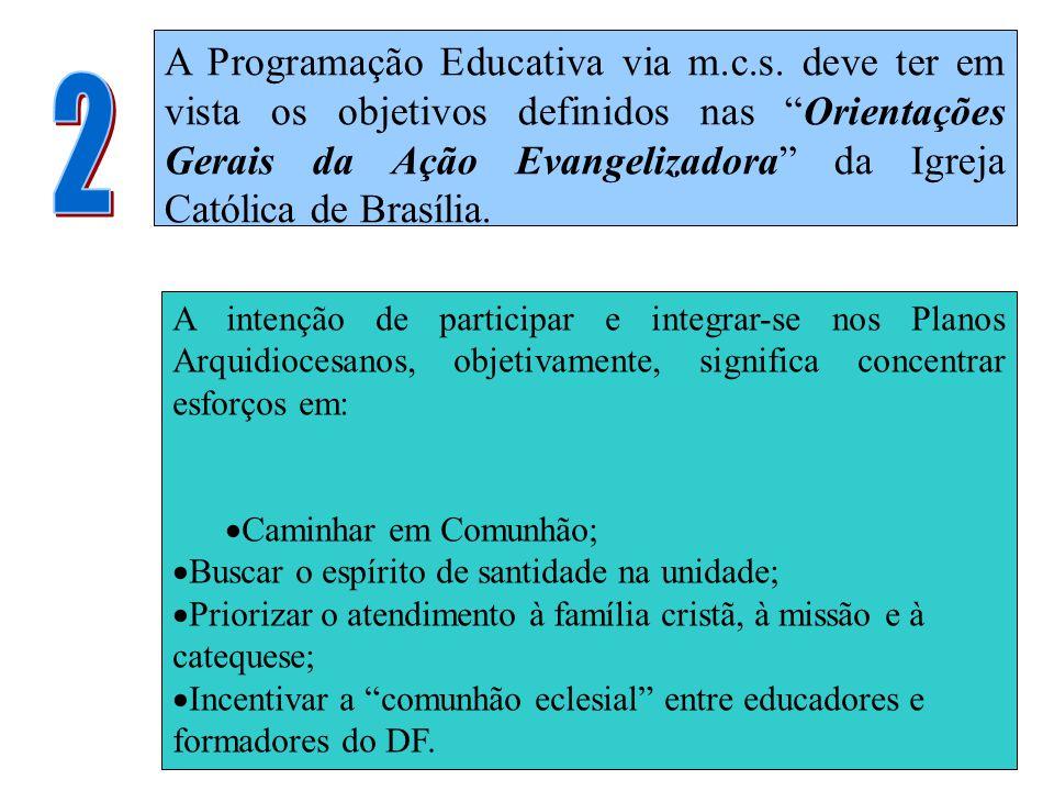 A Programação Educativa via m. c. s