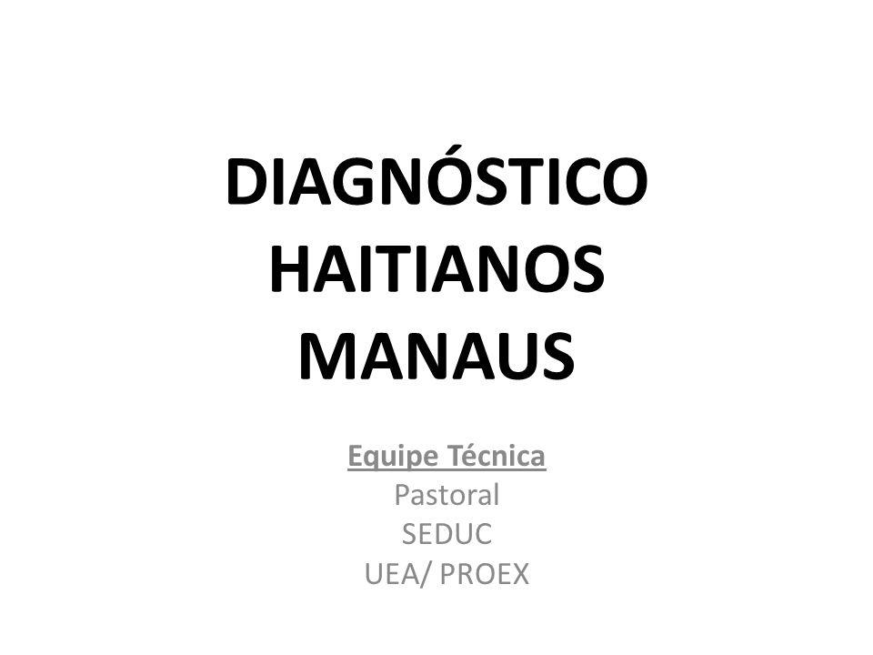 DIAGNÓSTICO HAITIANOS MANAUS