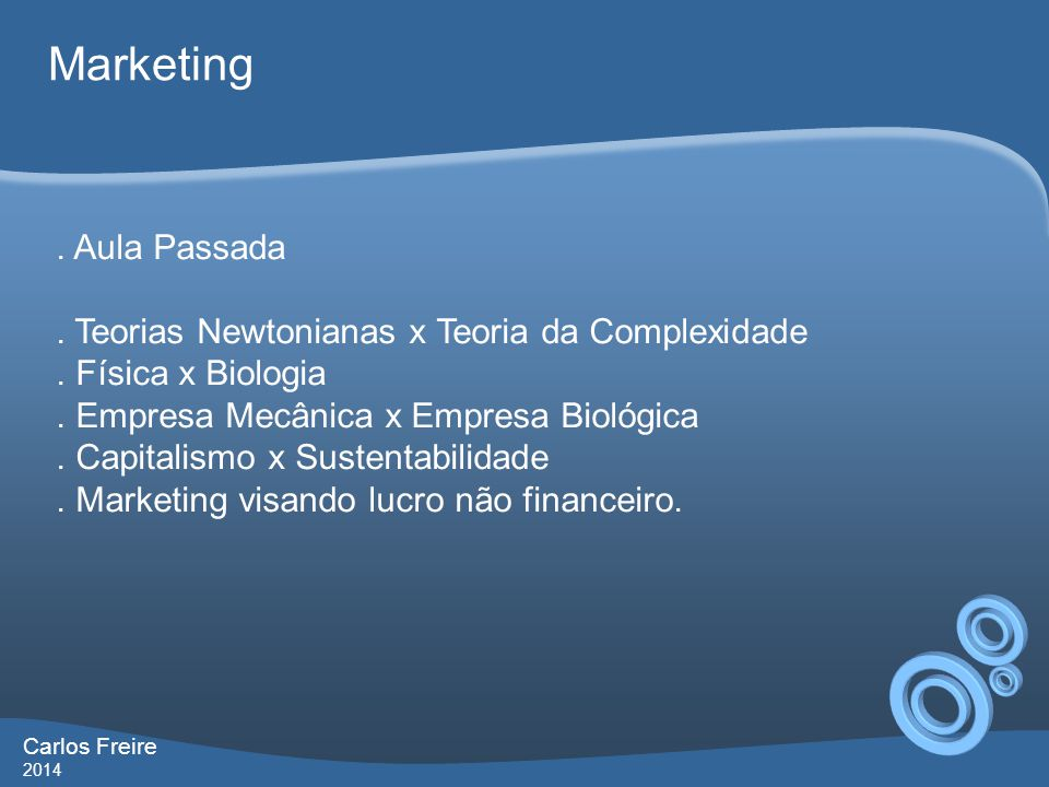 Marketing . Aula Passada