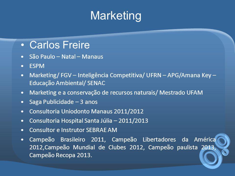 Marketing Carlos Freire São Paulo – Natal – Manaus ESPM