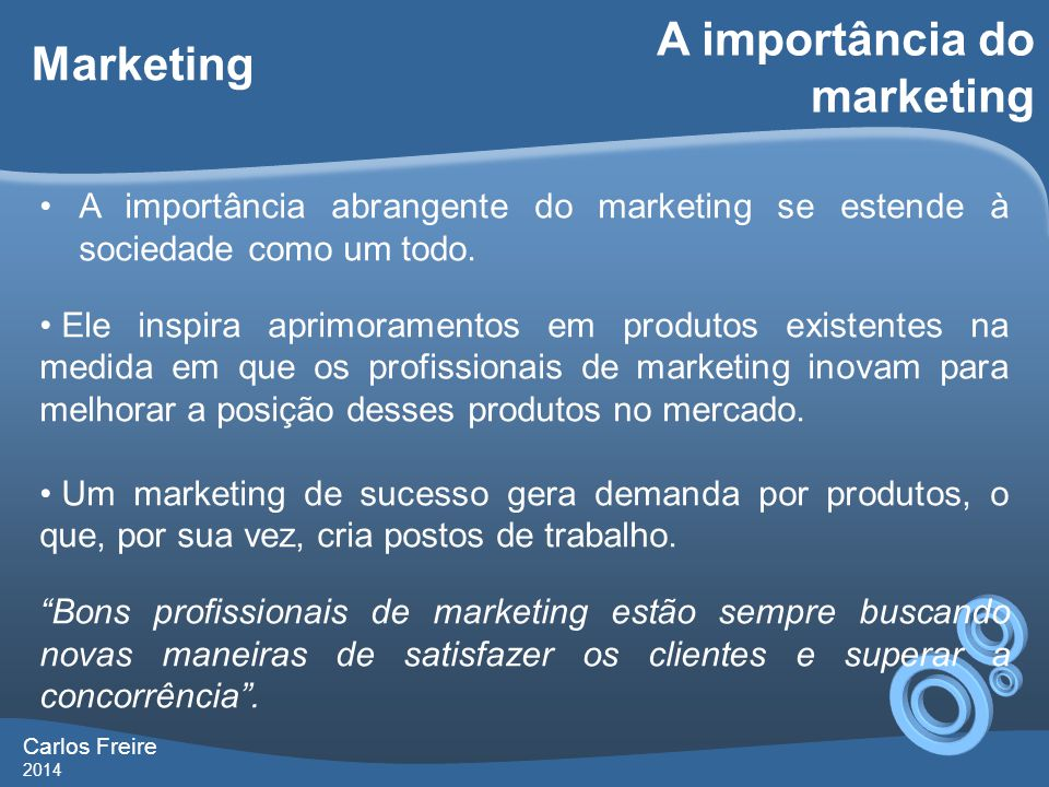 A importância do marketing Marketing