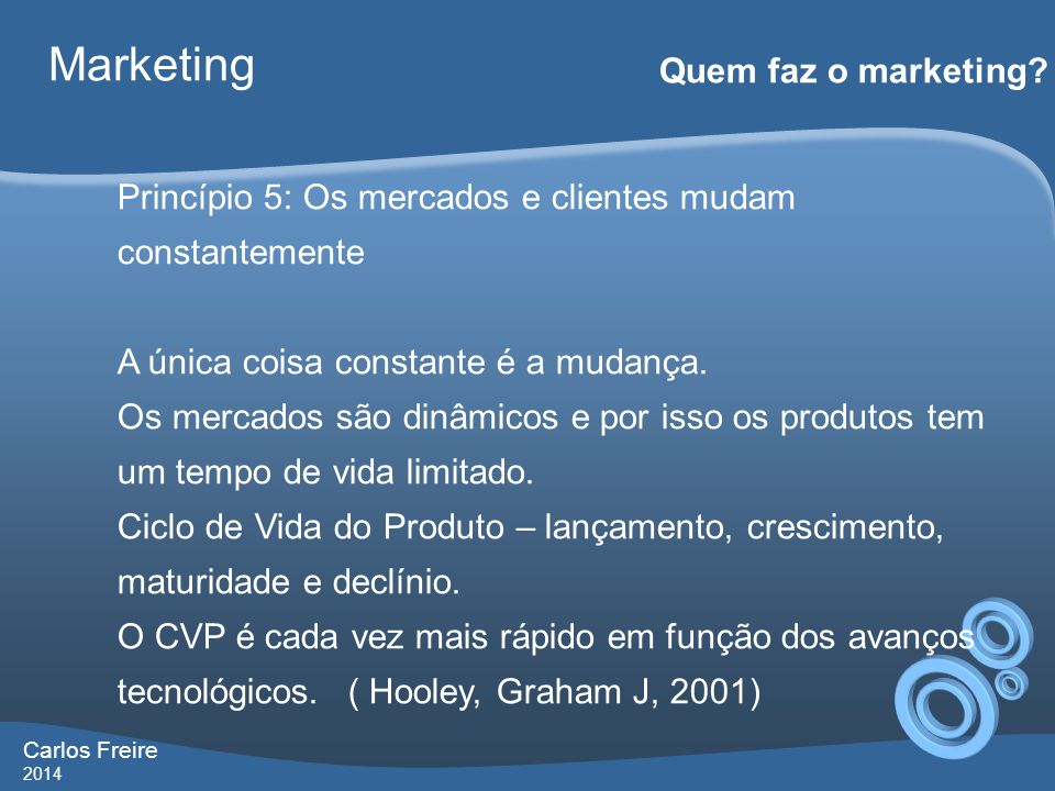 Marketing Quem faz o marketing