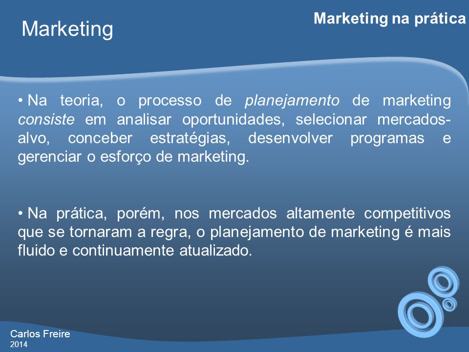 Marketing Marketing na prática