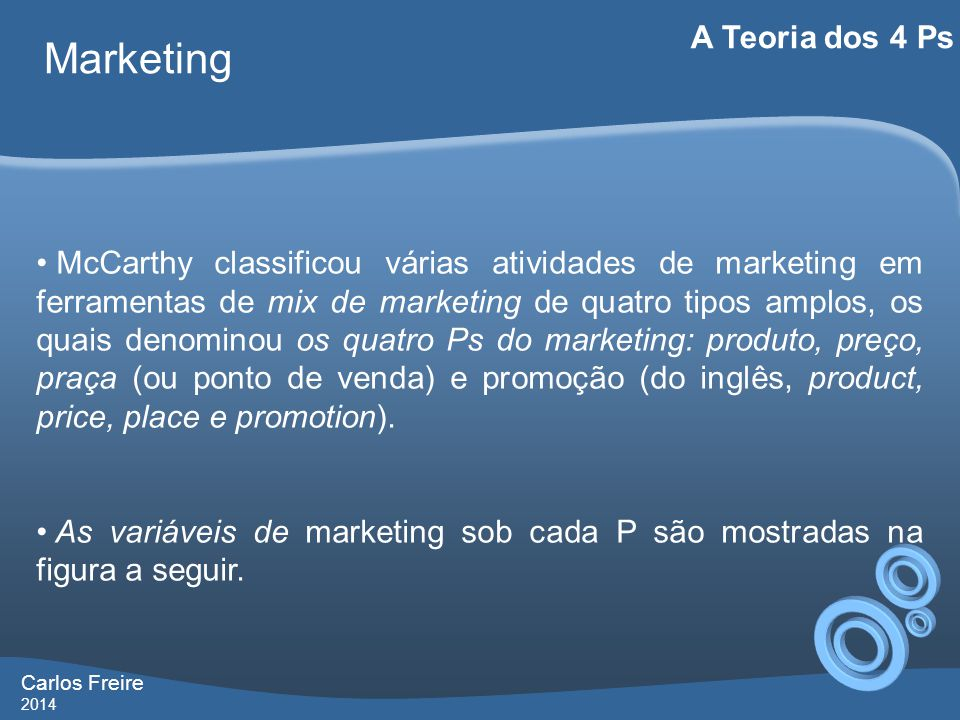 Marketing A Teoria dos 4 Ps