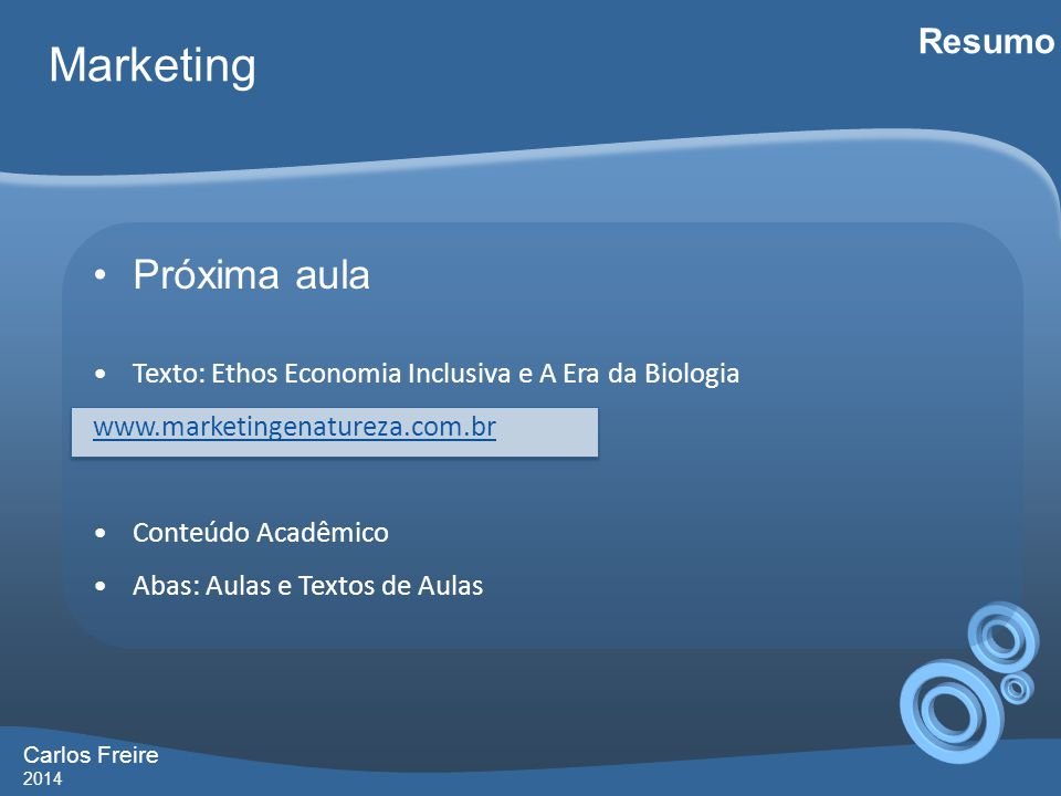 Marketing Próxima aula Resumo