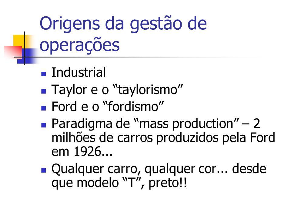 Origens da gestão de operações