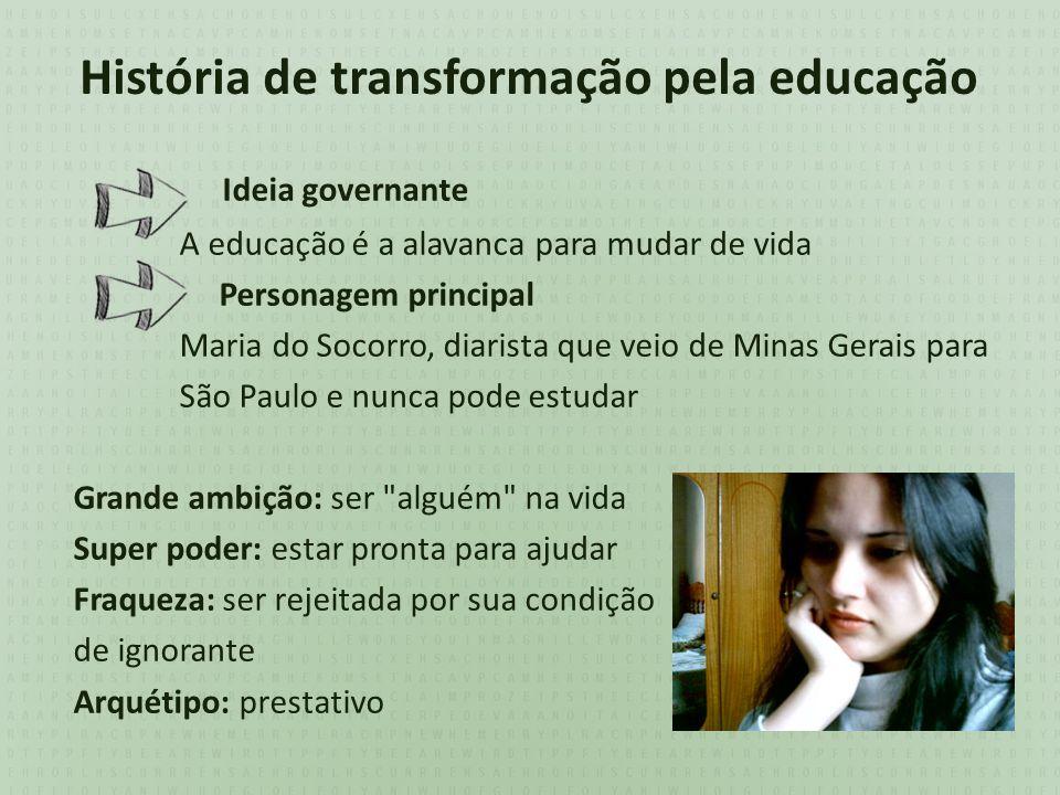 História de transformação pela educação