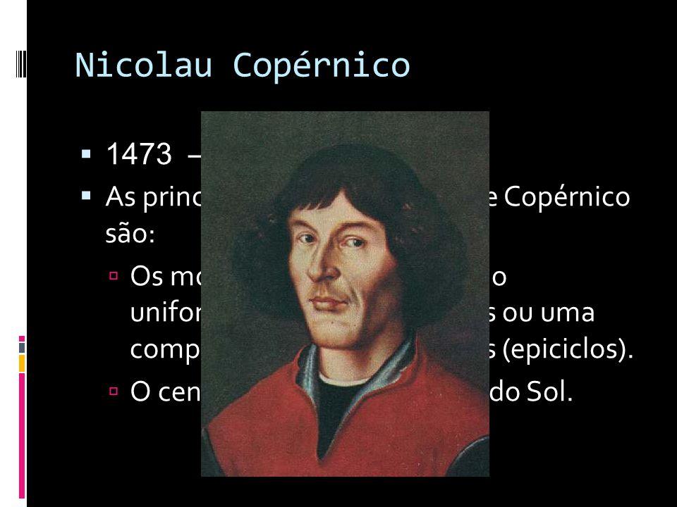 Nicolau Copérnico 1473 – 1543 d.C. As principais partes da teoria de Copérnico são: