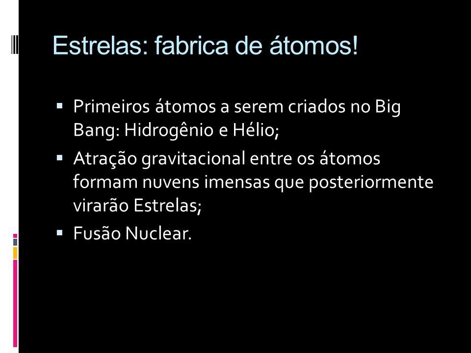 Estrelas: fabrica de átomos!