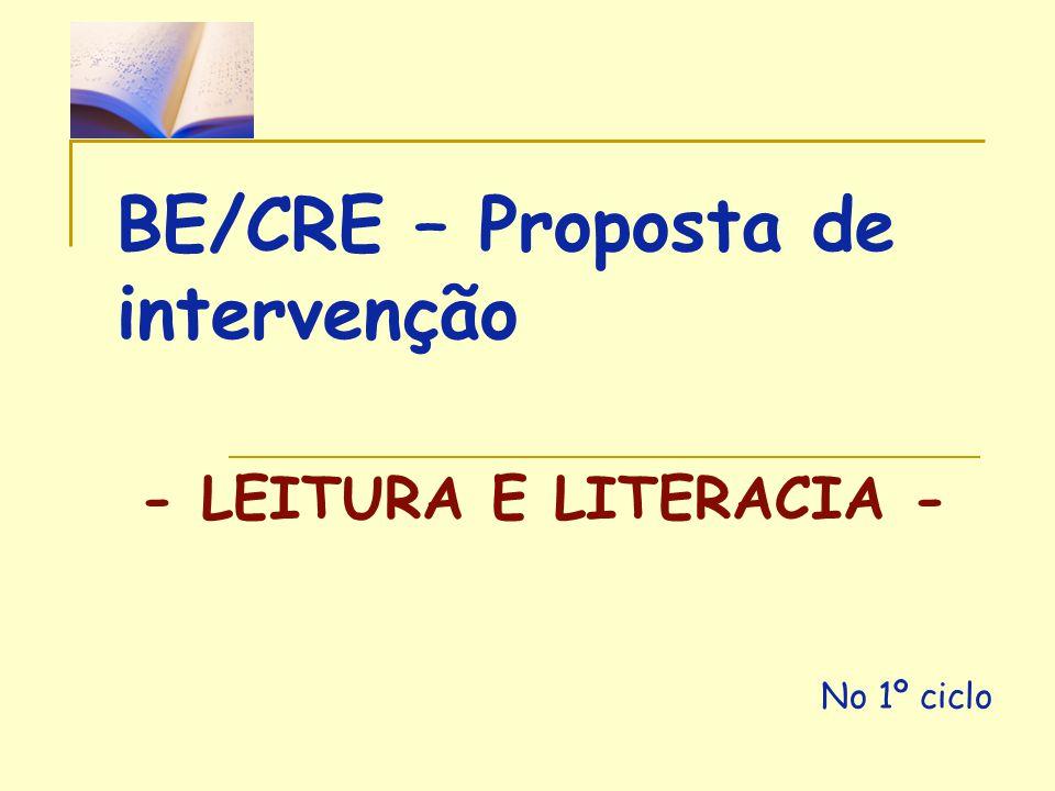 BE/CRE – Proposta de intervenção
