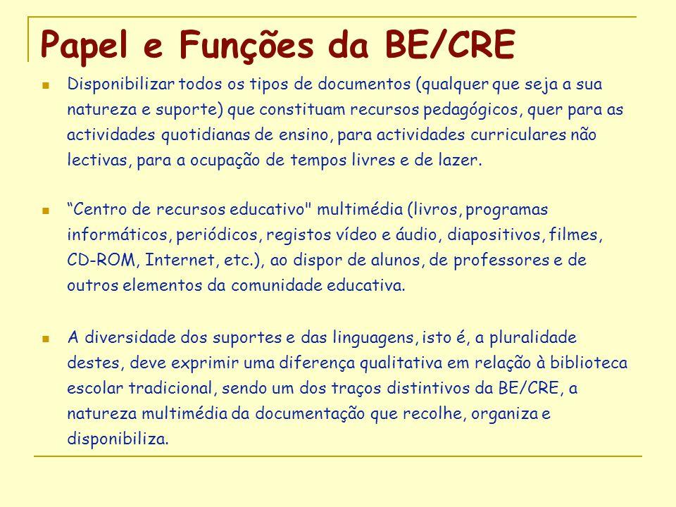 Papel e Funções da BE/CRE