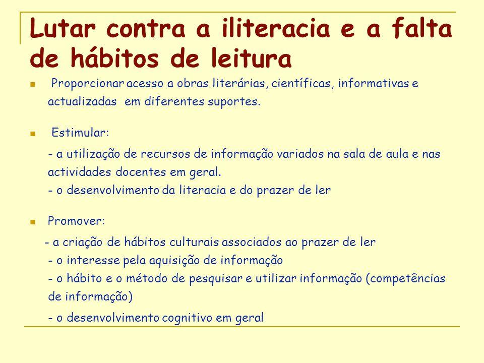Lutar contra a iliteracia e a falta de hábitos de leitura