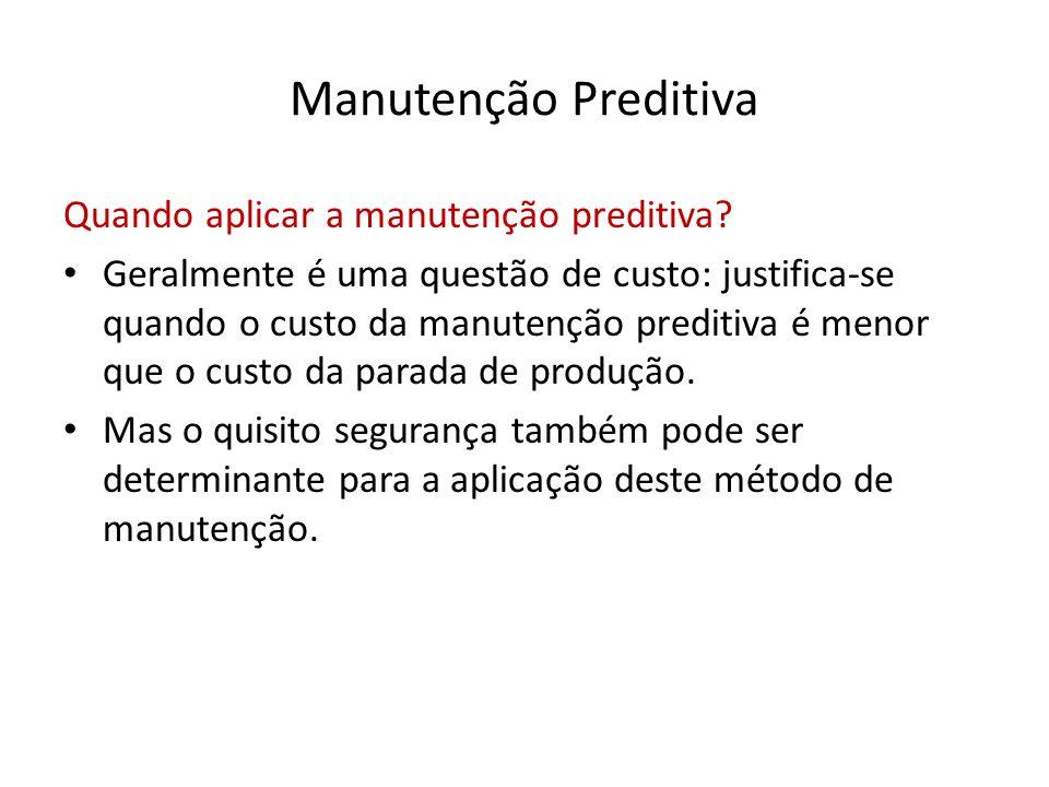 Manutenção Preditiva Quando aplicar a manutenção preditiva