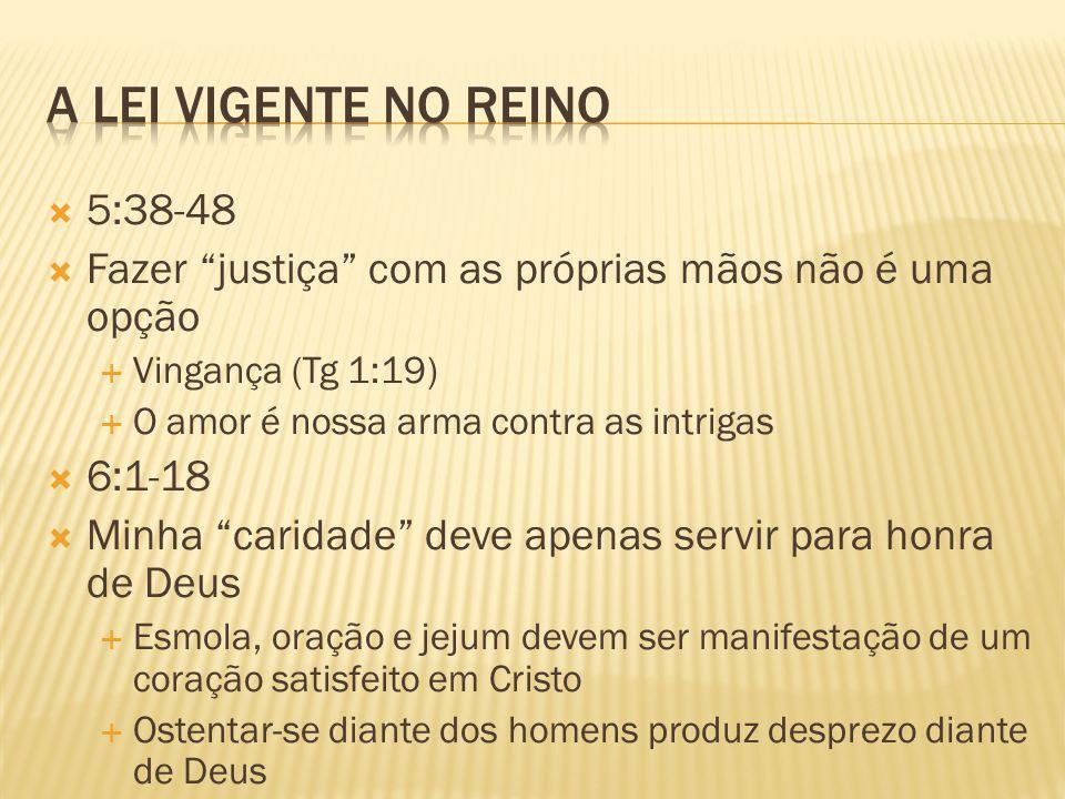 A lei vigente no reino 5:38-48
