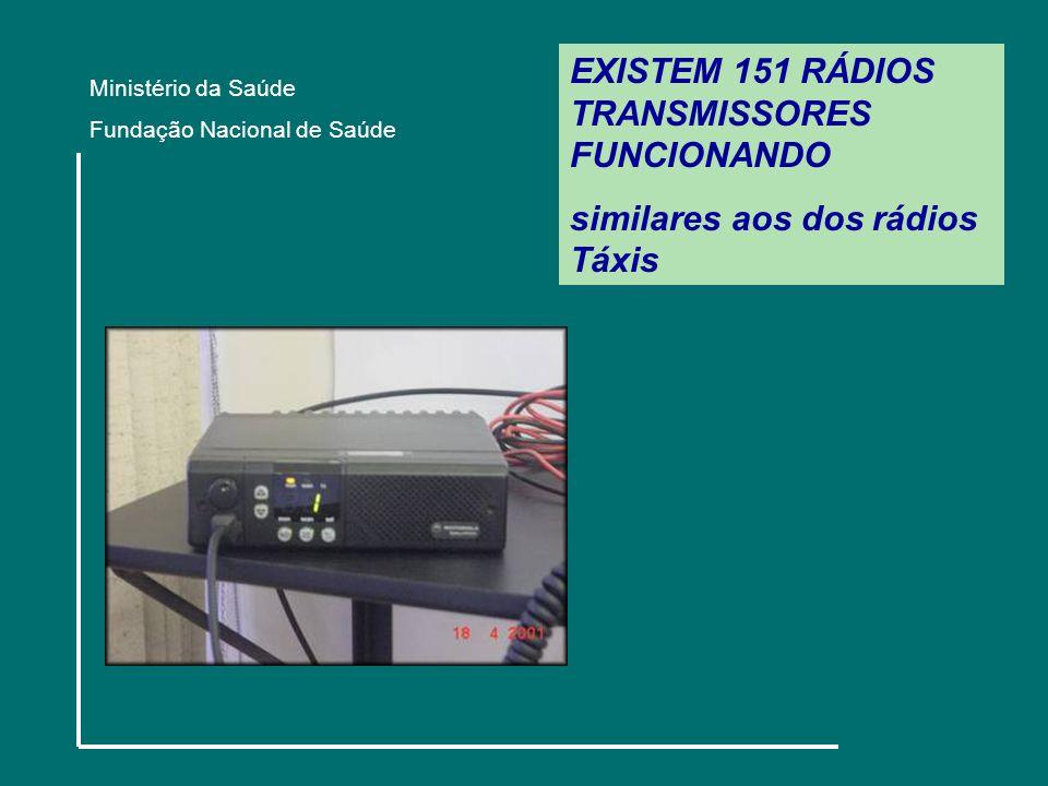 EXISTEM 151 RÁDIOS TRANSMISSORES FUNCIONANDO