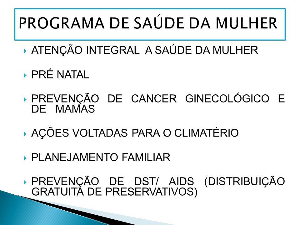 PROGRAMA DE SAÚDE DA MULHER