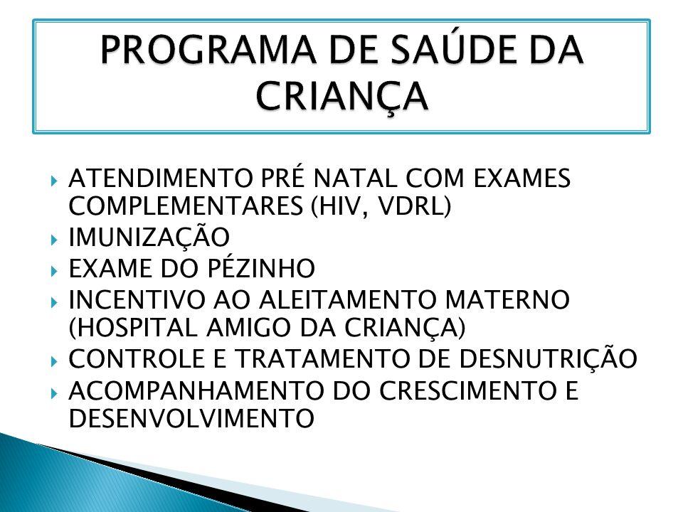 PROGRAMA DE SAÚDE DA CRIANÇA