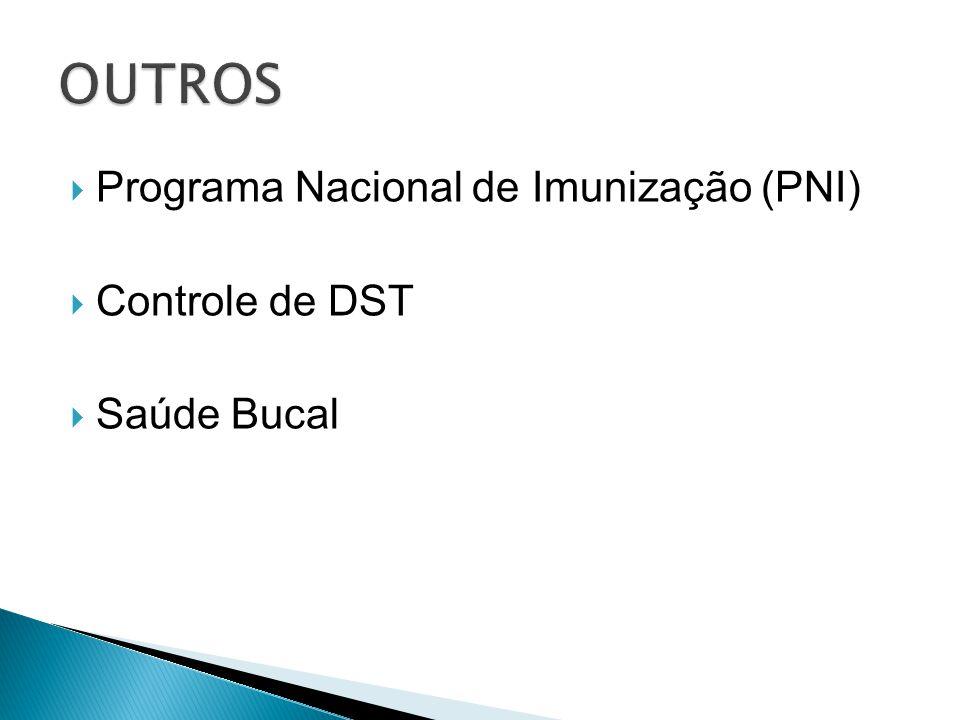 OUTROS Programa Nacional de Imunização (PNI) Controle de DST