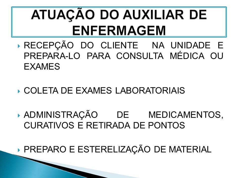 ATUAÇÃO DO AUXILIAR DE ENFERMAGEM