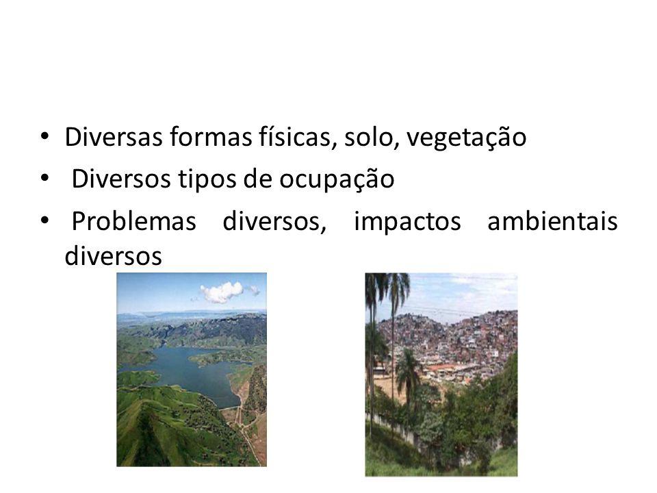 Diversas formas físicas, solo, vegetação