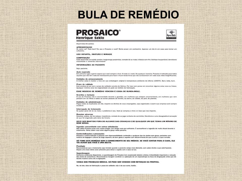 BULA DE REMÉDIO