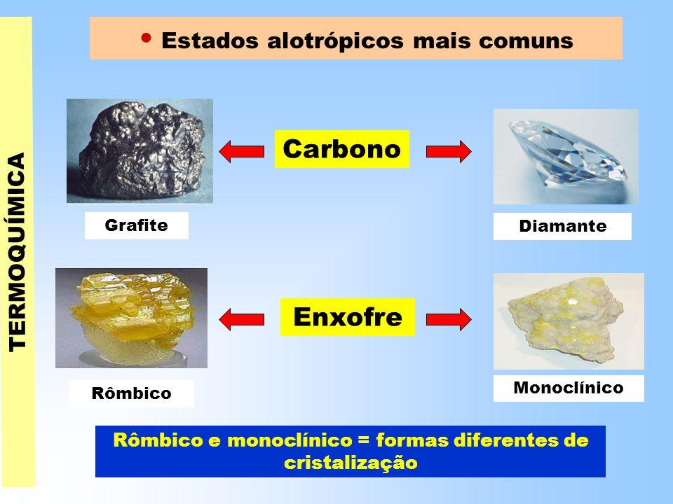 • Estados alotrópicos mais comuns
