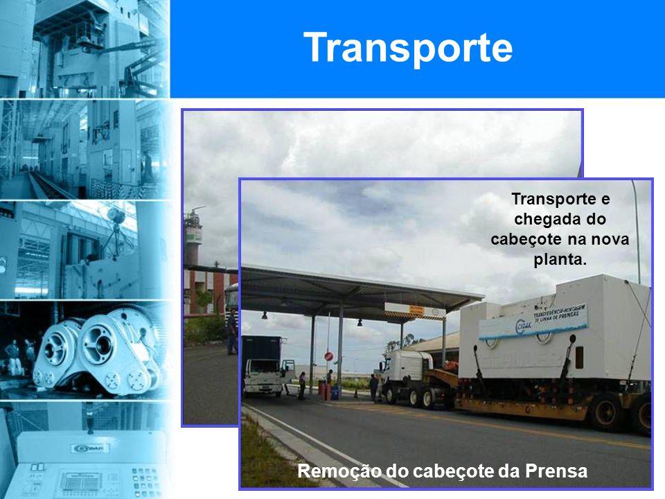 Transporte Remoção do cabeçote da Prensa