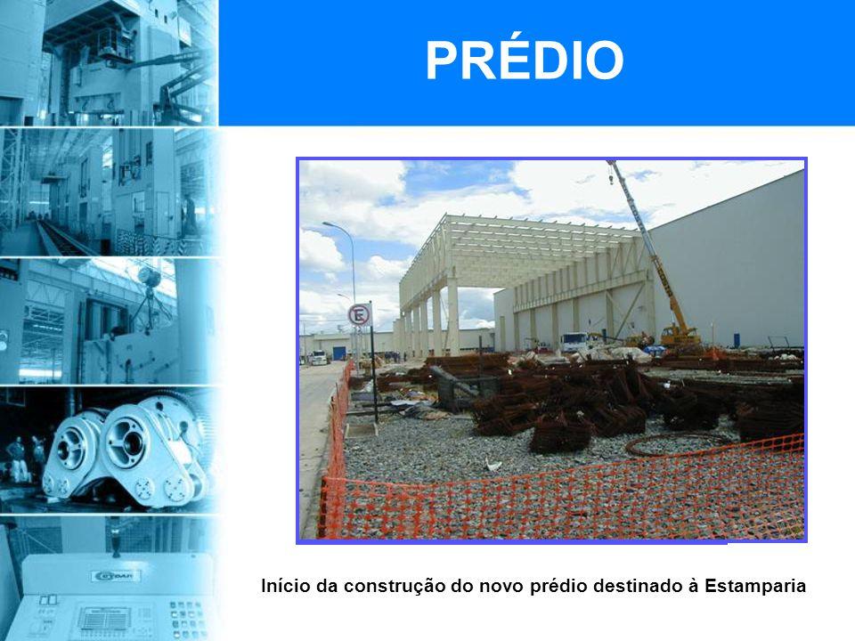 Início da construção do novo prédio destinado à Estamparia