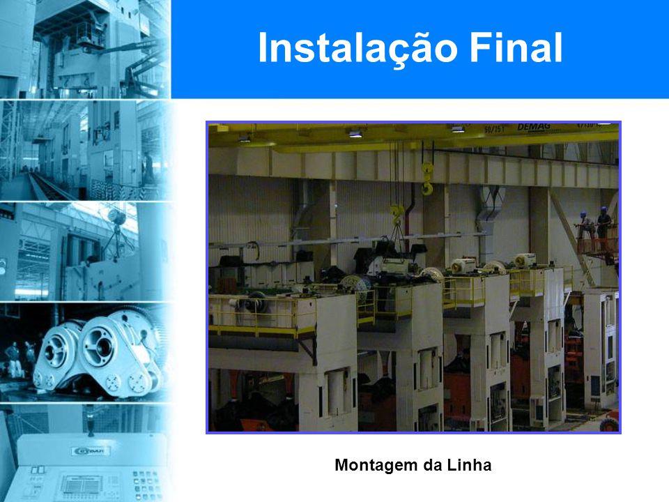 Instalação Final Montagem da Linha