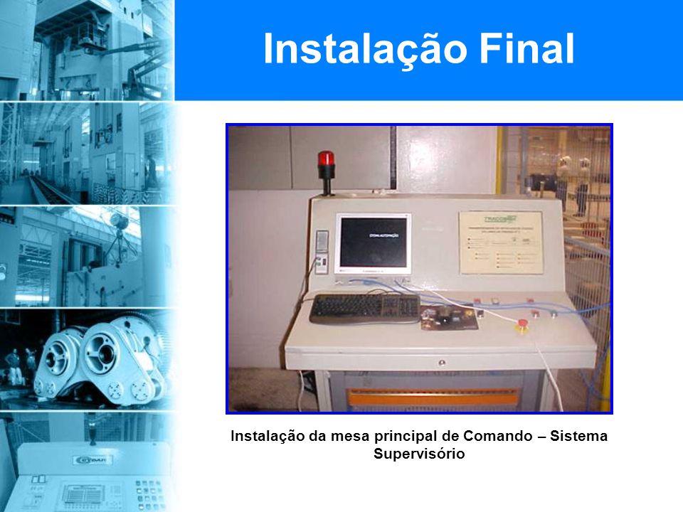 Instalação da mesa principal de Comando – Sistema Supervisório