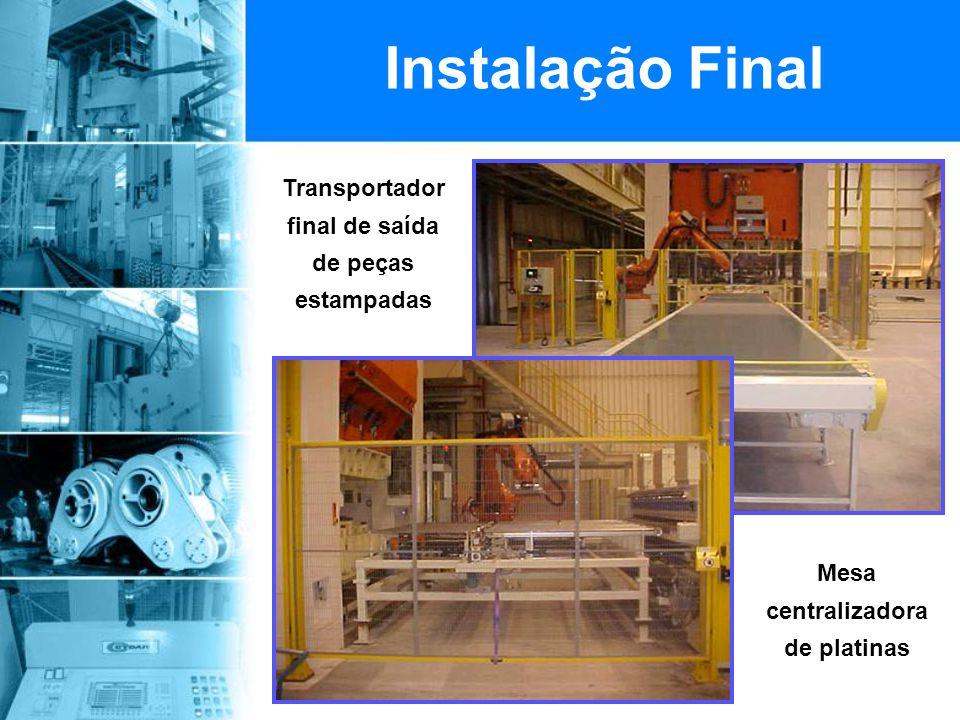 Instalação Final Transportador final de saída de peças estampadas
