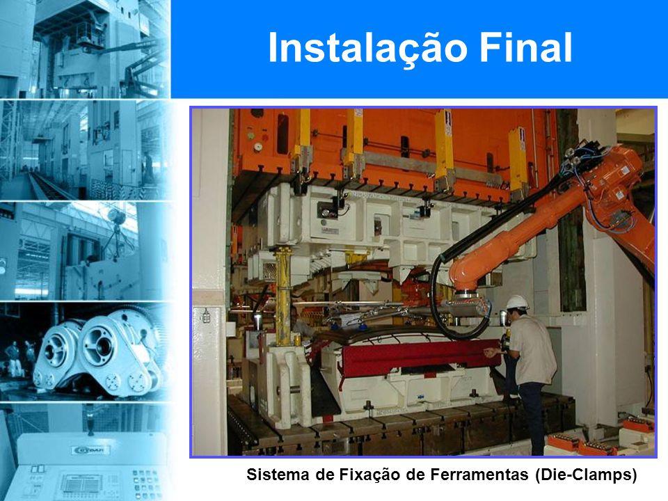 Instalação Final Sistema de Fixação de Ferramentas (Die-Clamps)
