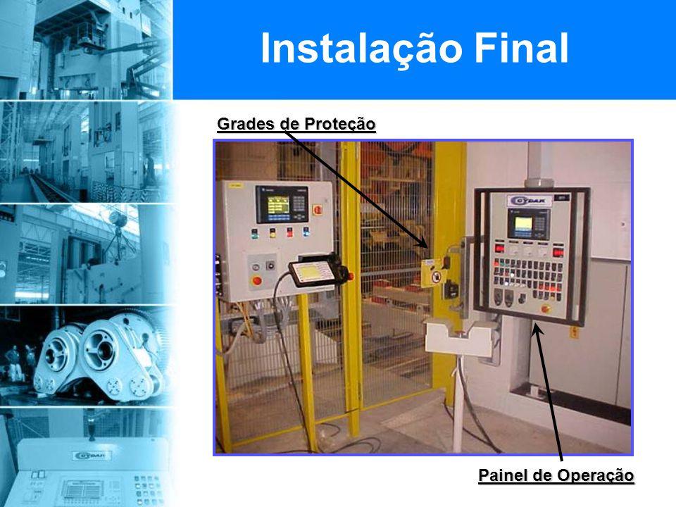 Instalação Final Grades de Proteção Painel de Operação