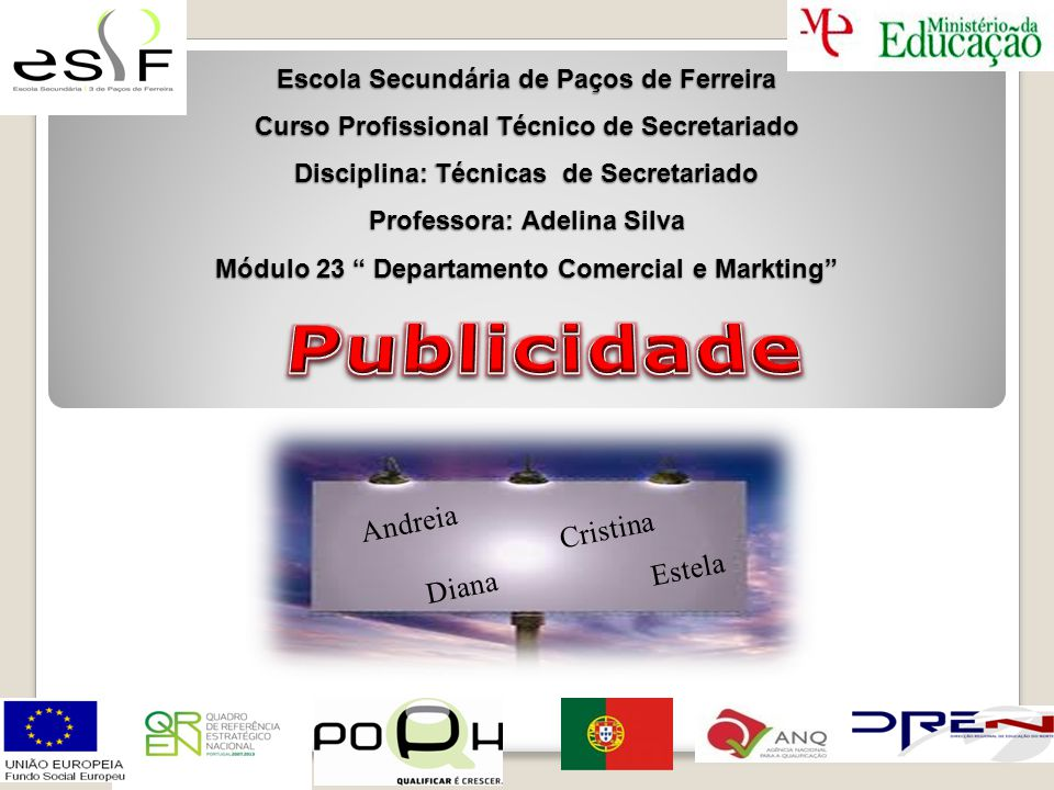 Publicidade Andreia Cristina Estela Diana