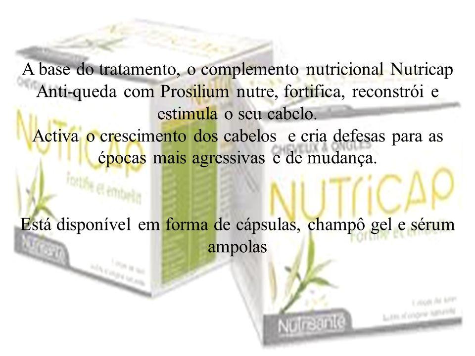 Está disponível em forma de cápsulas, champô gel e sérum ampolas